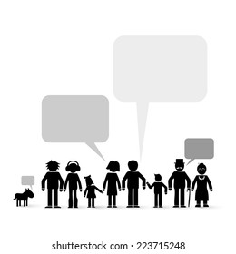 family members - communication concept