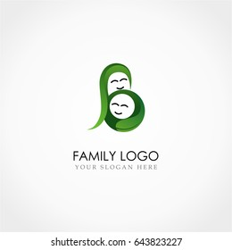 Family Mom and baby logo. mother and child logo
