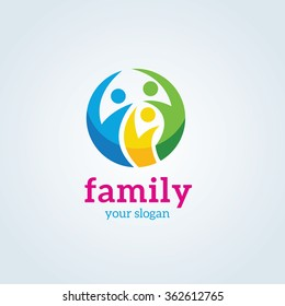 Family an People Care Logo Template.
