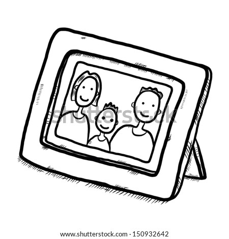 Family Picture Wooden Frame There Mother Stock Vector (Royalty Free ...