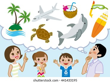 Family planning Happy summer Vacations