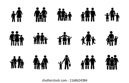 Family Portrait Glyph Vector Icons