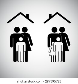 family sign graphic design, vector illustration
