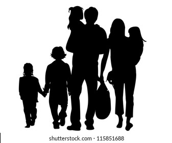 Image result for family silhouette