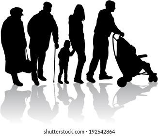 Family silhouettes