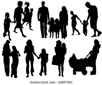 Family silhouettes