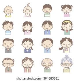Family smile icon