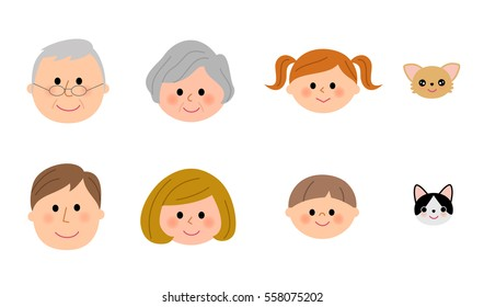 The family and smiling face