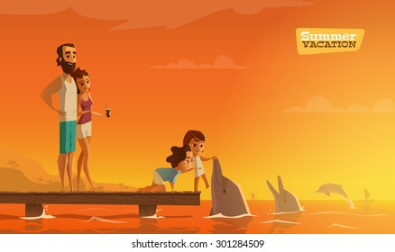 Family summer vacation