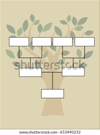 family tree diagram on vintage style stock vector royalty free