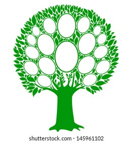 Family tree - frames empty for your input. Vector Illustration