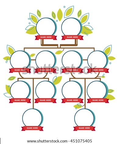 family tree generation empty icons infographic stock vector royalty