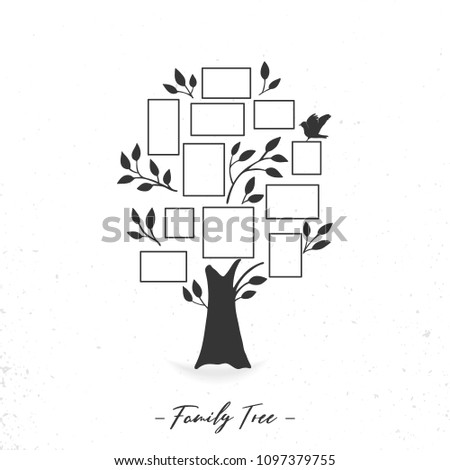 Family Tree Photo Frames Memories Insert Stock Vector (Royalty Free ...