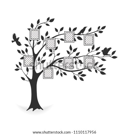 Family Tree Photo Frames Memories Insert Stock Vector Royalty Free