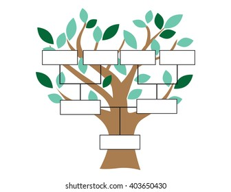 """Family Tree""  Stylized Tree and a Basic Family Tree Chart"