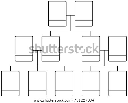 Family Tree Team Structure Blank Template Stock Vector Royalty Free