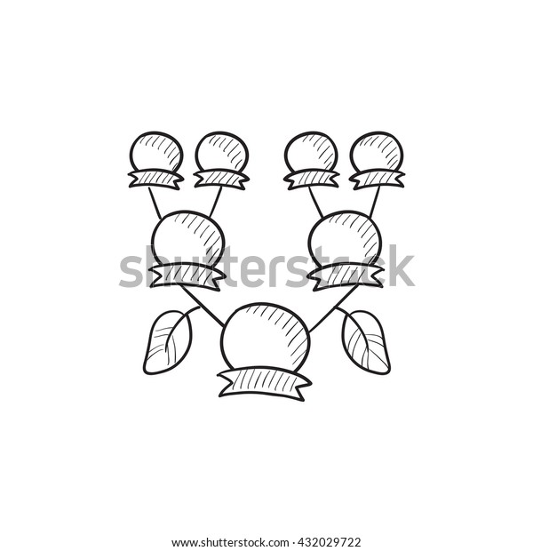Family Tree Vector Sketch Icon Isolated Stock Vector (Royalty Free