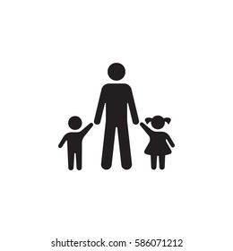 Family Vector Icon on the white background
