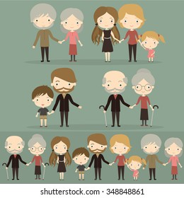Family. Vector illustration of family members