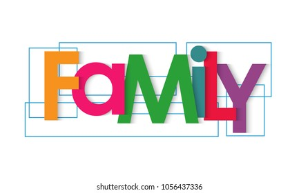 Family vector letters