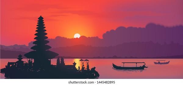ulun danu bali stock illustrations images vectors shutterstock https www shutterstock com image vector famous balinese water temple ulun danu 1445482895