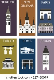 Famous cities. Vector