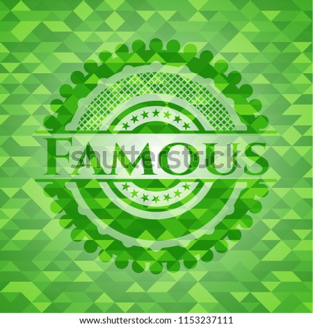 Famous Green Emblem Mosaic Background Stock Vector Royalty Free