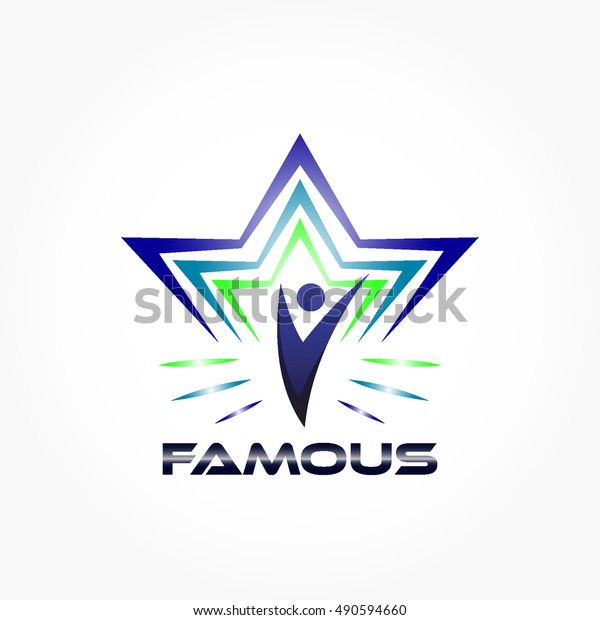 Famous Logo Concept Some Abstract Lines Stock Vector Royalty Free