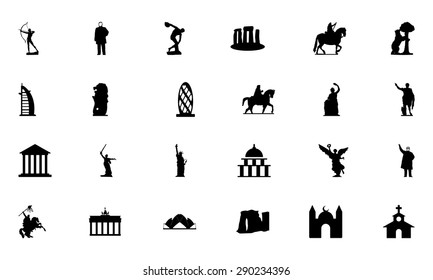 Famous Monuments Vector Icons 2