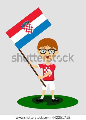 Fan Croatia National Football Team Sports Stock Vector (Royalty Free ... 278555ab7