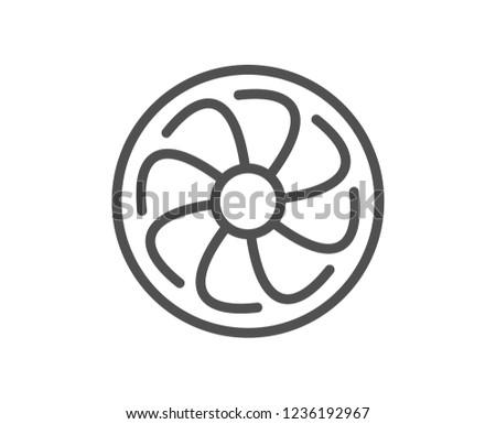 Fan Engine Line Icon Jet Turbine Stock Vector Royalty Free