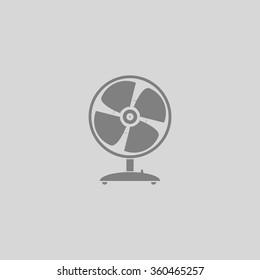 Fan - Grey flat icon on gray background