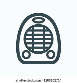 Fan heater icon, electric fan air heater vector icon