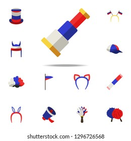fan monocle icon. Russian Fan atributs icons universal set for web and mobile