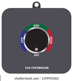 Fan speed controller with three modes of operation