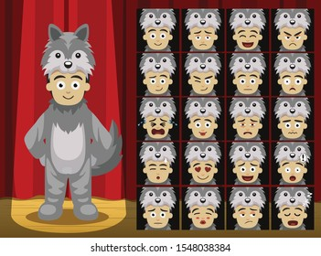 Fancy Animal Clothes Wolf Costume Cartoon Emotion faces-01