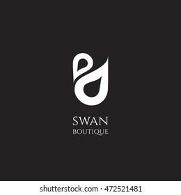 Fancy & Beauty logo Swan design