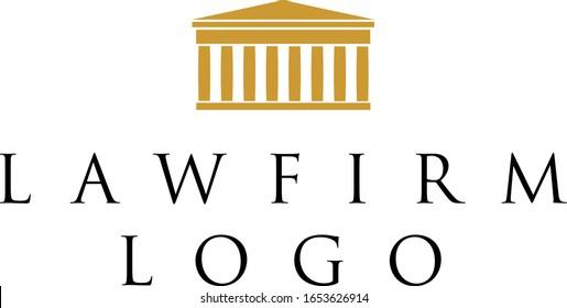 Fancy elegant law firm logo