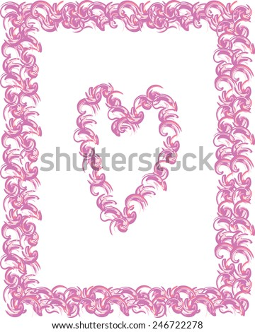 fancy heart bordered template made soft stock vector royalty free