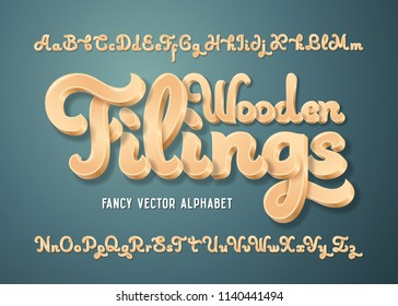 Fancy vector alphabet set with nice layered 3d effect