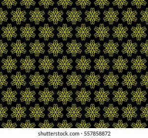 fancy vector geometric background. Floral ornament. black, yellow color. for invitation, wedding, wallpaper