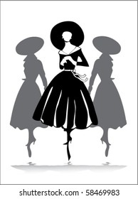fancy vintage silhouette group