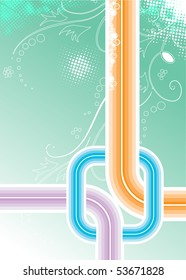 Fantastic abstract design with space of your text, vector illustration