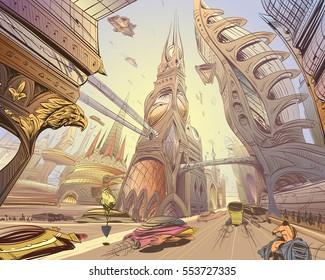 Future Fantasy Concept Art