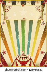 Fantastic color circus. A vintage background with multicolor sunbeams on circus theme.