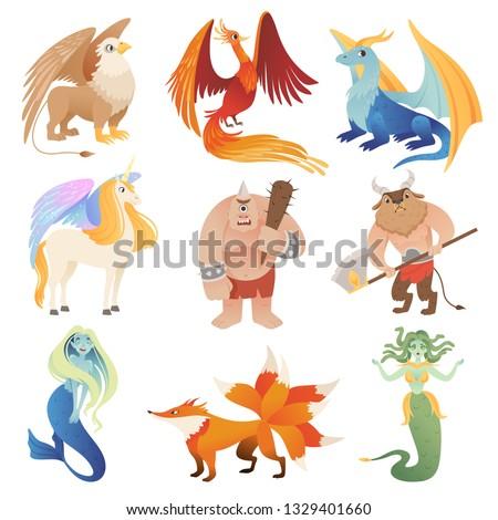 Fantastic creatures Phoenix dragon