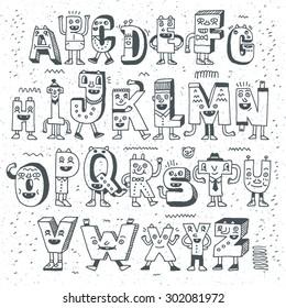 Doodle alphabet images stock photos vectors shutterstock fantastic funny alphabet wacky doodle letters design set vector hand drawn illustration altavistaventures Gallery