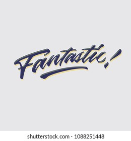 fantastic hand lettering typography compliment words poster