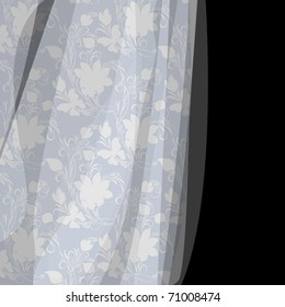 Fantasy background with gentle blue lace (eps10)
