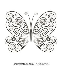 Fantasy butterfly tattoo